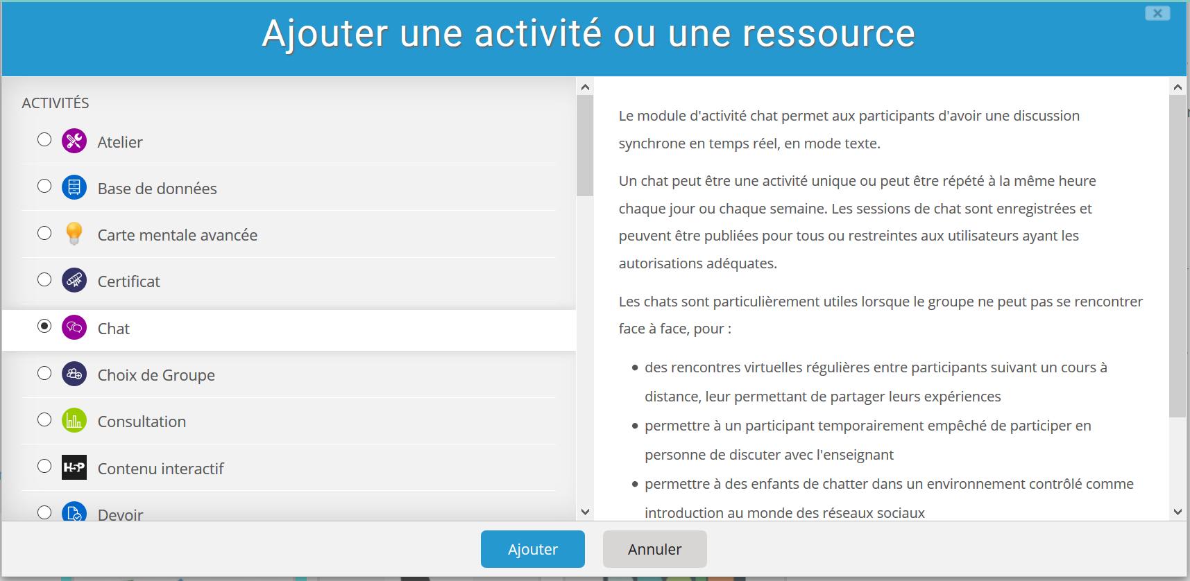 Utiliser Le Chat Pendant Un Examen En Ligne Comment Ajouter Un Chat A Votre Cours